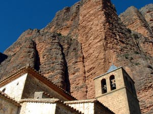 The Mallos above the church in Riglos