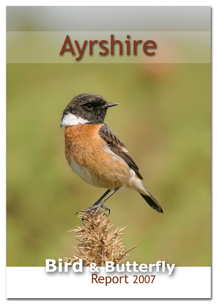 Ayrshire Bird Report 2007 (Stonechat, Ayrshire's county bird, on the front cover)
