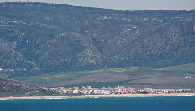 Zahara and Sierra de la Plata viewed from the cliffs at Barbate © Fraser Simpson