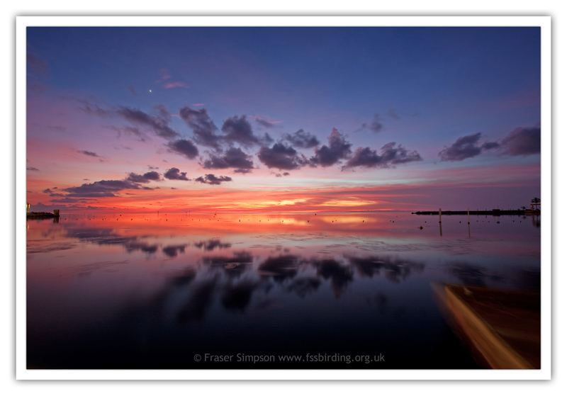 Sunset over Florida Bay at Keys Marine Lab � 2010 Fraser Simpson