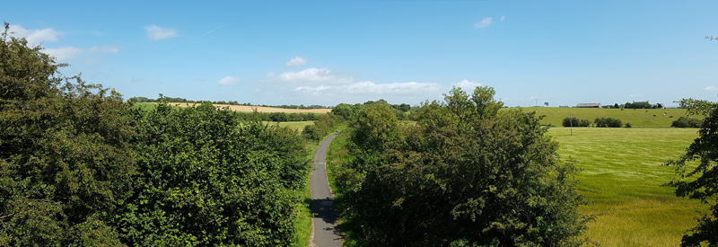 View from the bridge on the unclassified road: Yellowhammer, Whitethroat, Grey Partridge, etc. (Knockentiber-Springside disused railway line) © Fraser Simpson