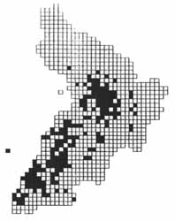 Ringlet distribution in Ayrshire