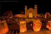 Luminarias at Old San Miguel Mission, Socorro