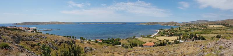 Sigri, overlooking the island of Megalonisi © Fraser Simpson  ·  www.fssbirding.org.uk