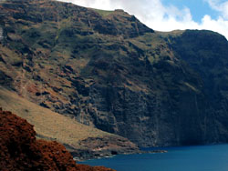 Cliffs in Teno Natural Park