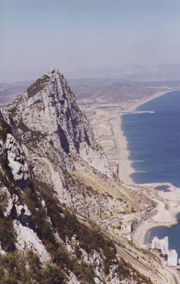 View east along the Costa del Sol from Gibraltar